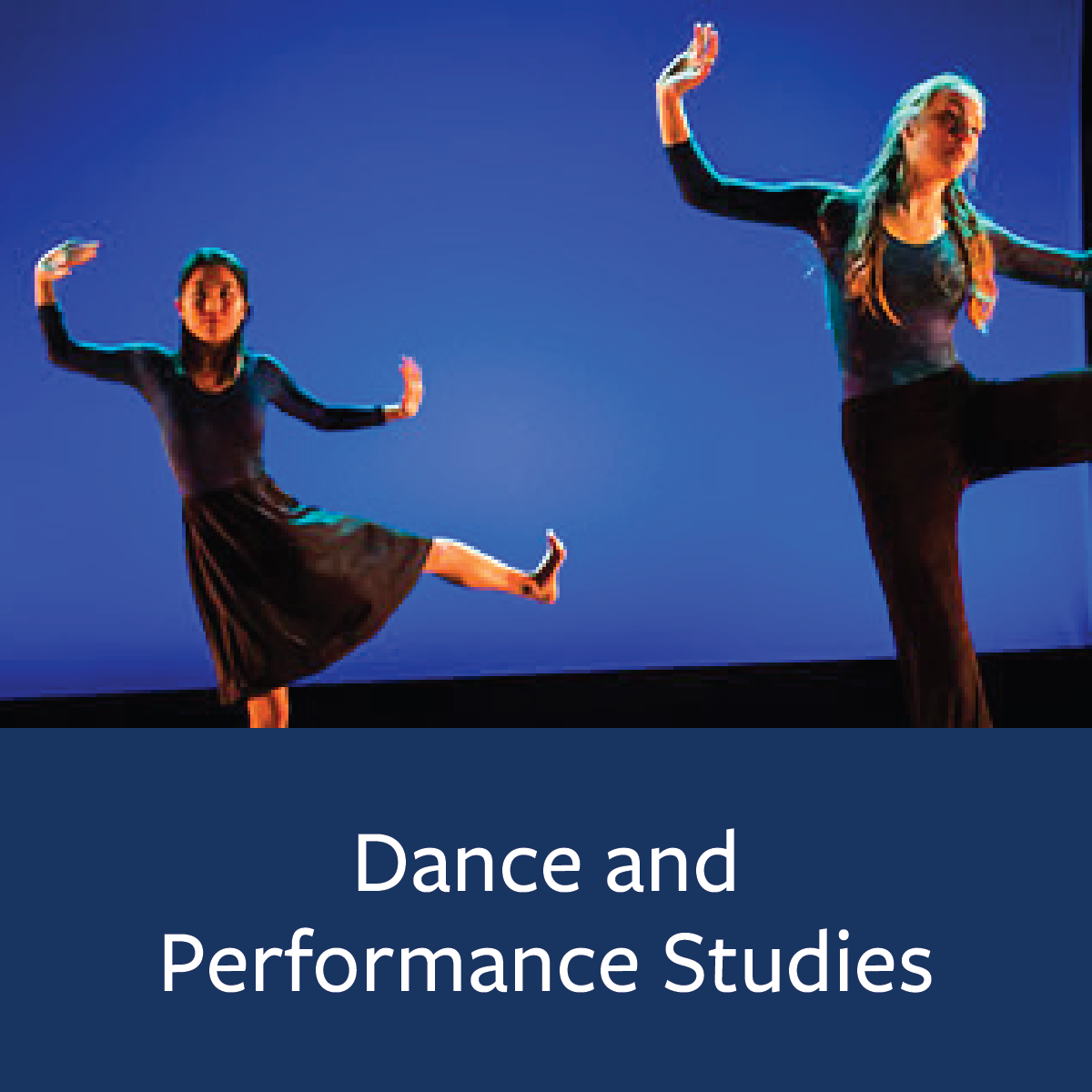 Dance and Performance Studies Major Map