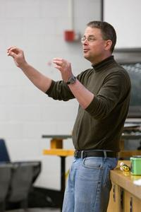 Key Note, Tim McKay lecturing to a class