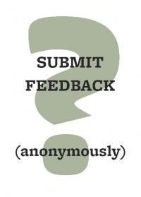 Submit feedback anonymously